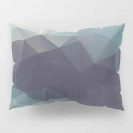 Polygon pattern . Triangles with a texture craquelure . 2 Pillow Sham