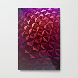 Epcot Texture Metal Print