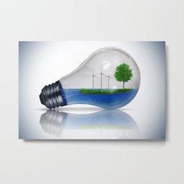 Eco Energy Concept Metal Print