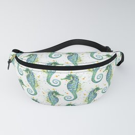 Seahorse: Green Fanny Pack