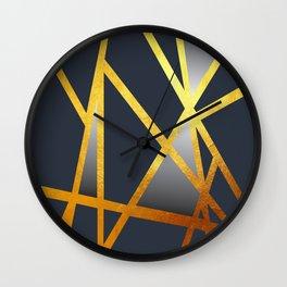 Dancing Goldlines Wall Clock