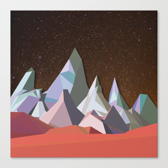 Night Mountains No. 30 Canvas Print