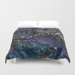 Ancient Bedrock on Mars Duvet Cover