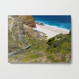 down the beach path Metal Print