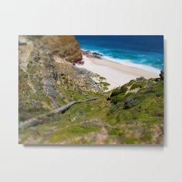 down the beach path Metal Print
