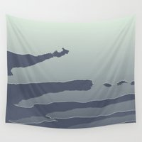 metallic Wall Tapestries featuring Metallic Sky by Dorothy Pinder