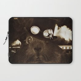 Steampunk Guinea Pig Laptop Sleeve