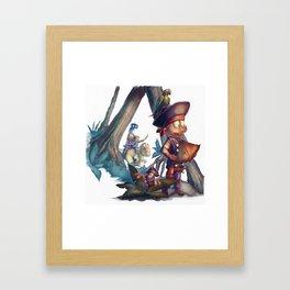 Denny and Company Treasure Hunt Framed Art Print
