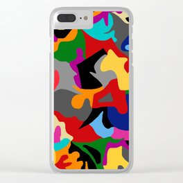Unconscious colorful Clear iPhone Case