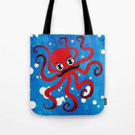 Moustache Octopus Tote Bag
