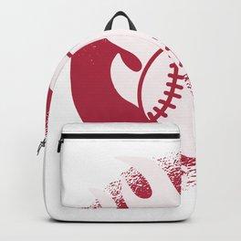 Baseball Game On Fire Backpack