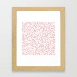 Pale Coral Leopard Framed Art Print
