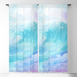 Ombre Wave Blackout Curtain