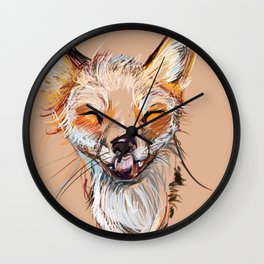 Happy Fox Wall Clock
