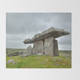 Poulnabrone Dolmen Throw Blanket
