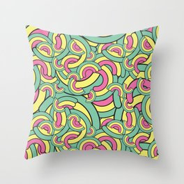 Rainbow pattern Throw Pillow