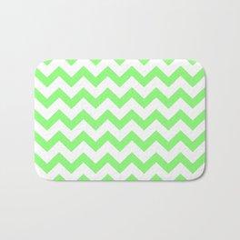 Chevron (Lime & White Pattern) Bath Mat