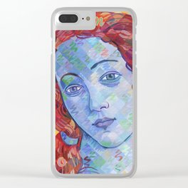 Variations On Botticelli's Venus - No. 3 (Primary Colors) Clear iPhone Case