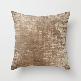 Cement Weathered Brown Abstract Photograph Throw Pillow