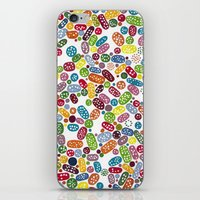 pills iPhone & iPod Skins featuring Pills by Eleacuareling