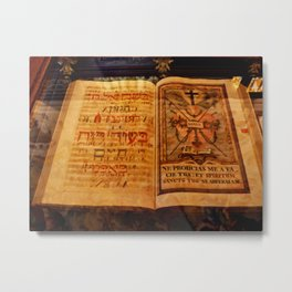 Ancient Manuscript Metal Print