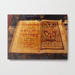 Ancient Manuscript Metal Print