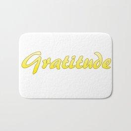 Inspiration Words...Gratitude Bath Mat