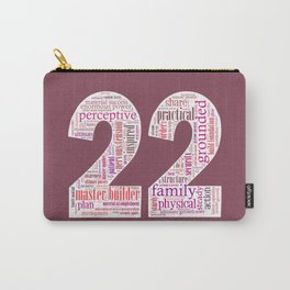 Life Path 22 (color background) Carry-All Pouch