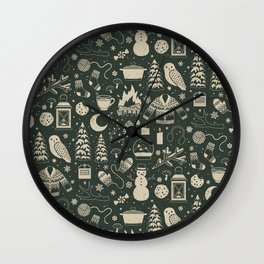 Winter Nights: Forest Wall Clock