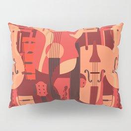 String Music Instrument Pattern Pillow Sham