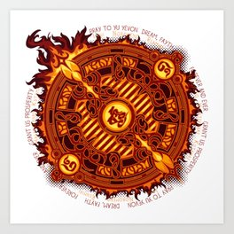 Ifrit Seal Art Print