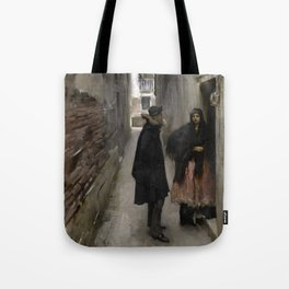 A Street in Venice by John Singer Sargent - Vintage Fine Art Oil Painting Tote Bag