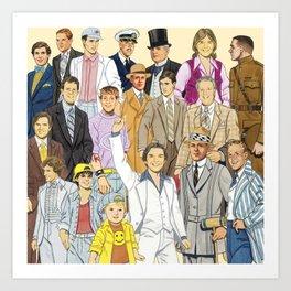 Men's Collection Art Print