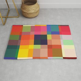 Talos - Colorful Abstract Pixel Patter Rug