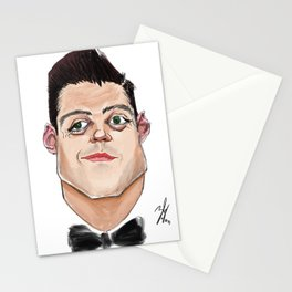 Caricature of Rami Malek Stationery Cards