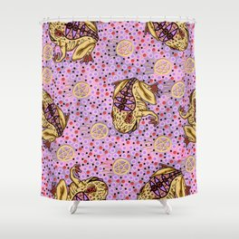 pentragram and frog Shower Curtain