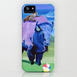 Beach Ball Bison iPhone Case