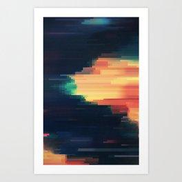 Glitched v.6 Art Print