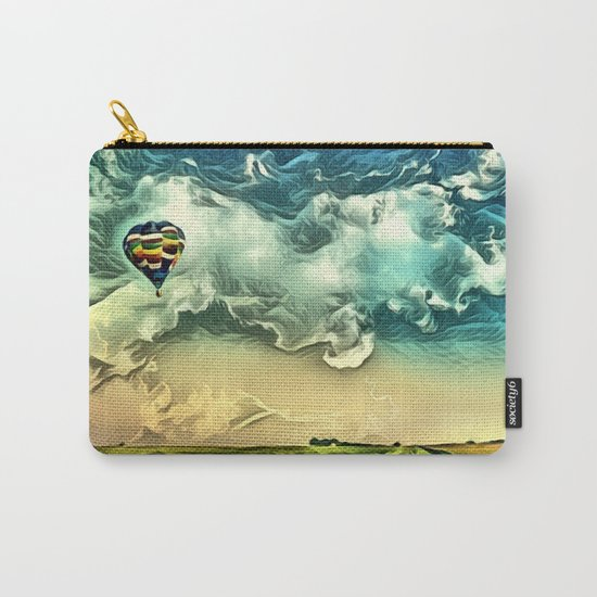 Air Balloon in the Sky with Clouds over the Landscape Carry-All Pouch