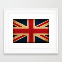 union jack Framed Art Prints featuring Union Jack by NicoWriter