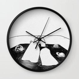 Magical bath tube. Wall Clock