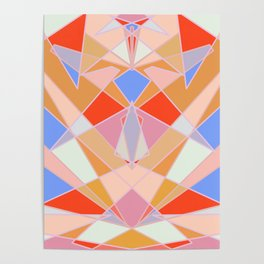 Flat Geometric no.35 Shapes and Layers Poster