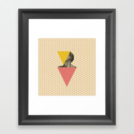 Body and Geometrics  Framed Art Print