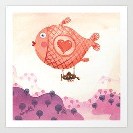 Flying_fish Art Print