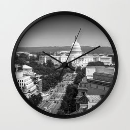 United States Capital Building in Washington, DC Wall Clock