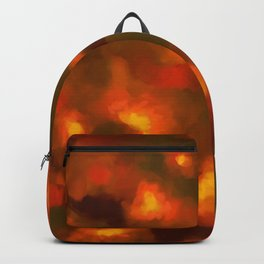 Glowing Ember Floral Abstract Backpack