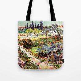 Vincent Van Gogh Flowering Garden Tote Bag