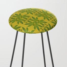 Marijuana Leaf Pattern Counter Stool