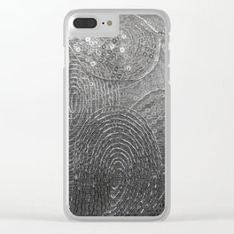 Metallic Lace Clear iPhone Case