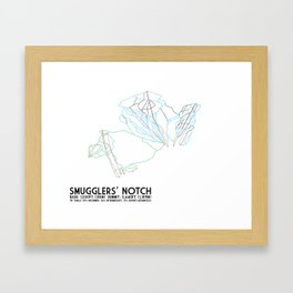 Smugglers' Notch, VT - Minimalist Trail Art Framed Art Print